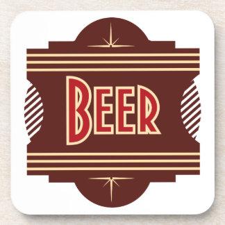 Retro Beer Logo Coasters
