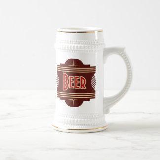 Retro Beer Logo Stein Beer Steins