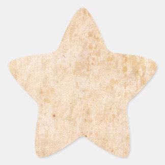 Retro Beige Grunge Pattern Star Sticker