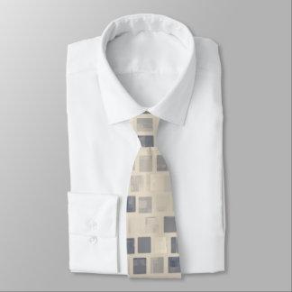 Retro Beige Mosaic Blocks Tie