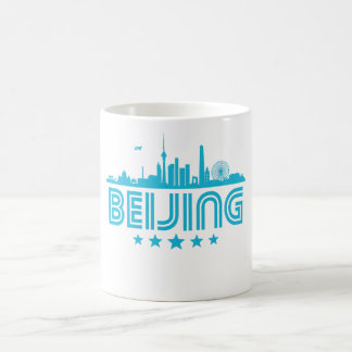 Retro Beijing Skyline Coffee Mug