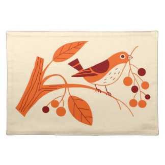 RETRO BERRY BIRD: SUMMER SUNSHINE PLACE MAT