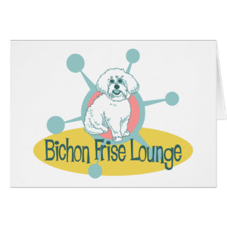 Retro Bichon Frise Lounge Card