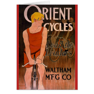 Retro Bicycle Ad 1890 Card