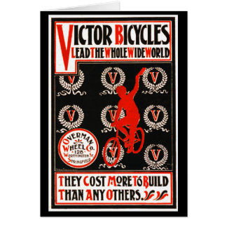 Retro Bicycle Ad 1895 Card