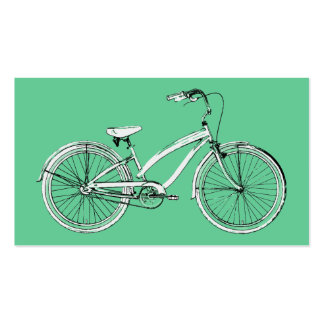 retro bicycle pack of standard business cards