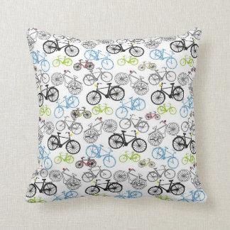 Retro Bicycle Pattern Cushion