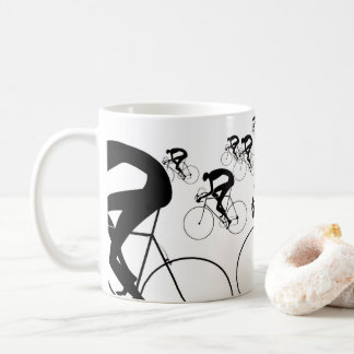 Retro Bicycle Silhouettes 1986 Coffee Mug