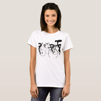 Retro Bicycle Silhouettes 1986 T-Shirt
