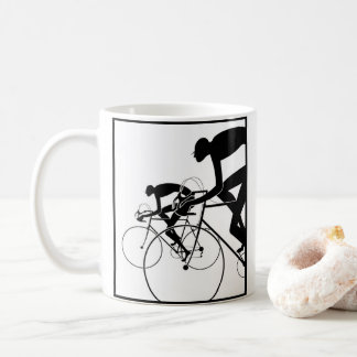 Retro Bicycle Silhouettes 2 1986 Coffee Mug
