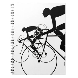 Retro Bicycle Silhouettes 2 1986 Notebooks