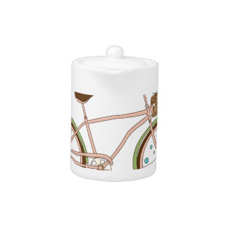 Retro bicycle with karzinkoy for flowers