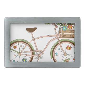 Retro bicycle with karzinkoy for flowers belt buckles