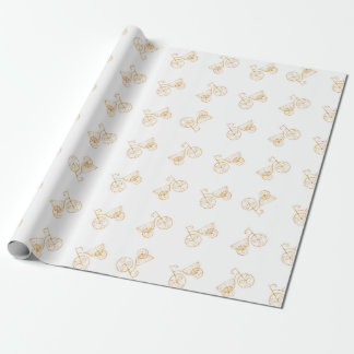 Retro Bicycles Motif Vintage Pattern Wrapping Paper