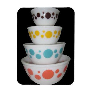 Retro Big Dot Mixing Bowls kitchen magnet