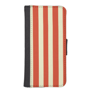 Retro Big Top Striped Smartphone Wallet Case