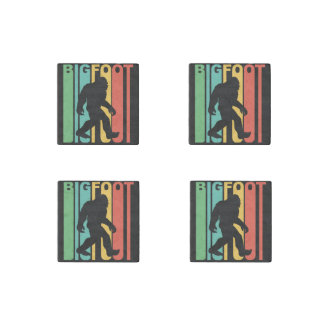 Retro Bigfoot Stone Magnet