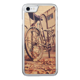 Retro bike carved iPhone 7 case