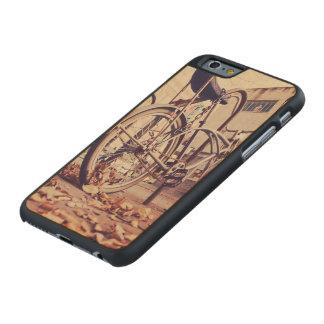 Retro bike carved® maple iPhone 6 slim case