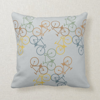 Retro Bike throw pillow