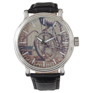 Retro bike wrist watches