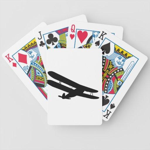 Retro Biplane Silhouette Card Decks