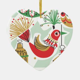 Retro Bird Christmas Ornament