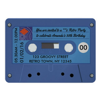 Retro Birthday Party Personalised Card