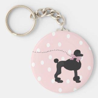 Retro Black and Pink  Keychain