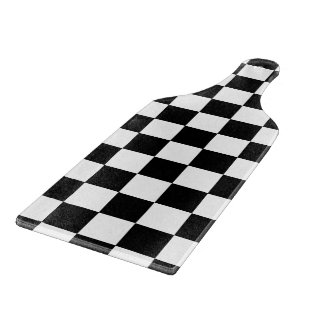 Retro Black and White Checkerboard Cutting Board