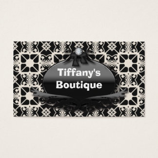 Retro Black and White Fashion Business Cards