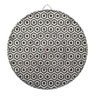 Retro Black and White Honeycomb Pattern Dart Boards