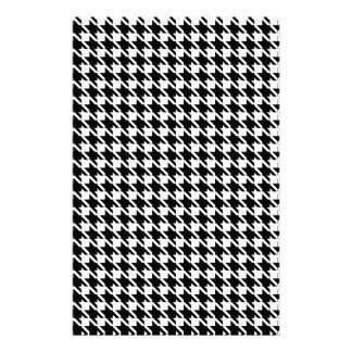 Retro black and white pattern personalized stationery