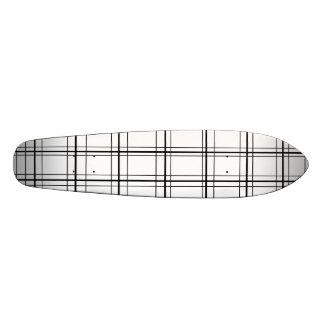 Retro black and white plaid 20.6 cm skateboard deck