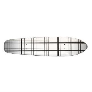 Retro black and white plaid skateboard