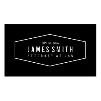 Retro Black and White Professional Attorney Business Card