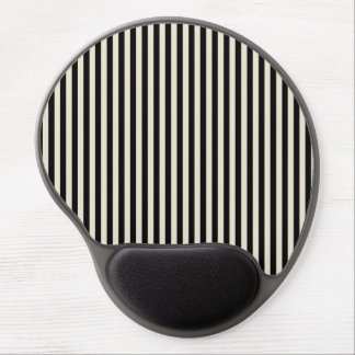 Retro Black and White Striped Pattern Gel Mouse Mats