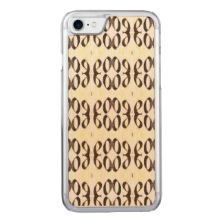RETRO BLACK AND WHITE SWIRLS CARVED iPhone 8/7 CASE