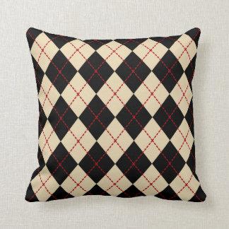 Retro Black Argyle Throw Pillow Gift Decor
