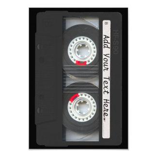Retro Black Cassette Tape 9 Cm X 13 Cm Invitation Card