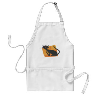 Retro Black Cat Standard Apron