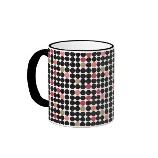 Retro Black Dots Coffee Mug