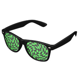 Retro black green checkerboard