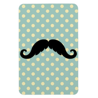 Retro Black Handlebar Mustache Moustache Magnets