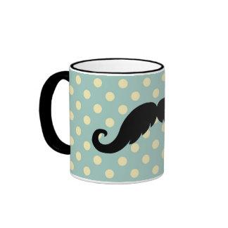 Retro Black Handlebar Mustache Moustache Mug