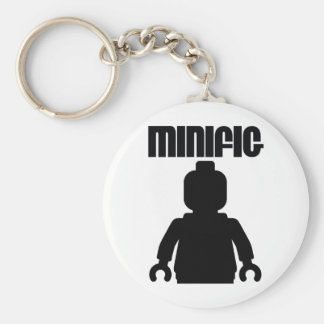 Retro Black Minifig by from Customize My Minifig Basic Round Button Key Ring