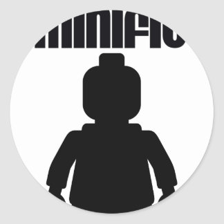 Retro Black Minifig by from Customize My Minifig Stickers
