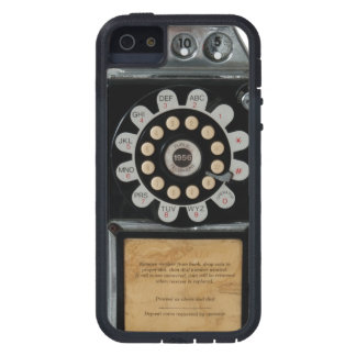 retro black pay phone case iPhone 5 covers