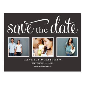 RETRO BLACK | SAVE THE DATE ANNOUNCEMENT POST CARD