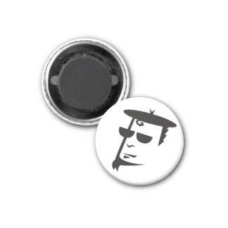 Retro Black & White Beatnik Hipster Magnet